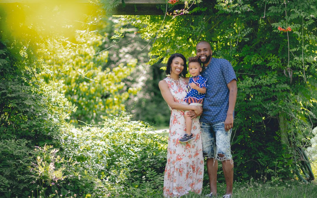 A Family Portrait Session in the Garden with Felipe