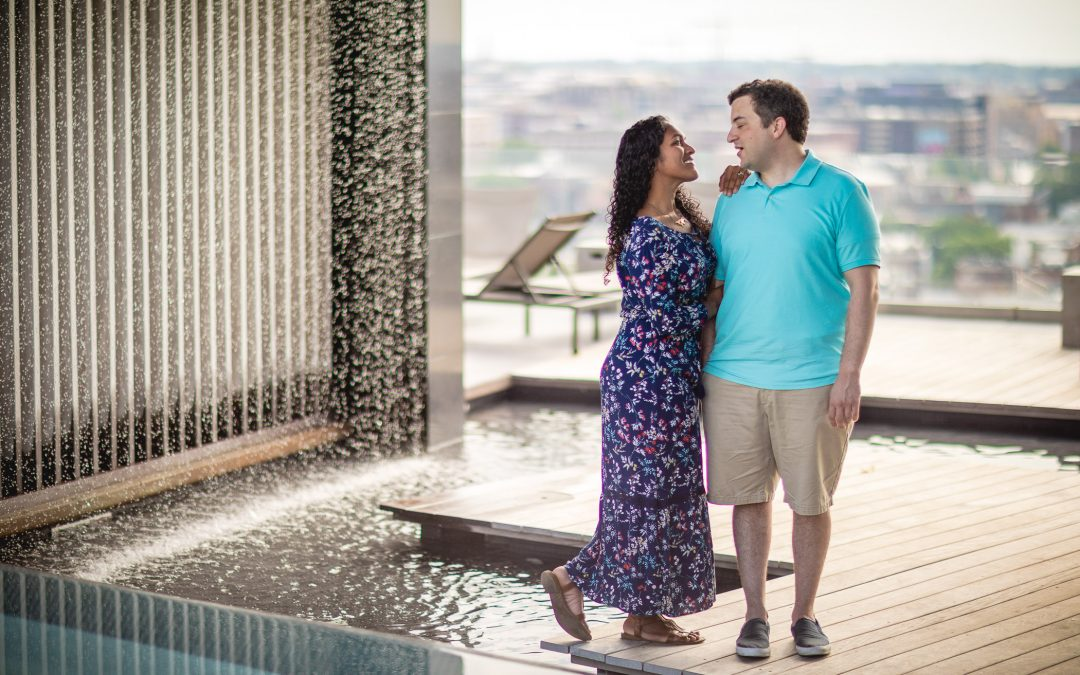 A Romantic Engagement Session from Felipe at The Kennedy Center in DC