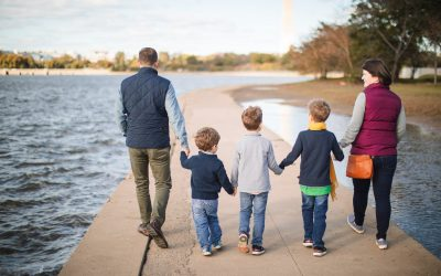 Tidal Basin Family Portraits | Ross & Sarah's Family